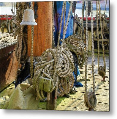 All Tied Up Metal Print by Ron Harpham