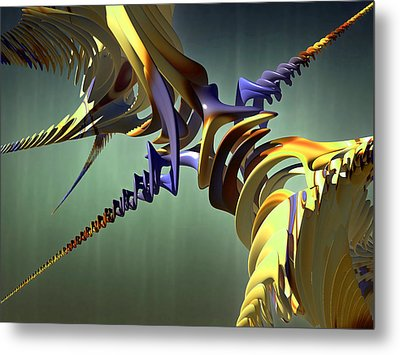 Metal Print featuring the digital art All Twisted Up by Melissa Messick