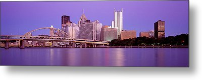 Allegheny River Pittsburgh Pa Metal Print by Panoramic Images