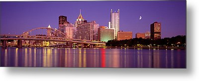 Allegheny River, Pittsburgh Metal Print by Panoramic Images