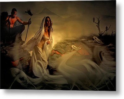 Metal Print featuring the digital art Allegory Fantasy Art by Galen Valle