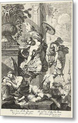 Allegory Of Fortuna And Science, Dancker Danckerts Metal Print by Dancker Danckerts