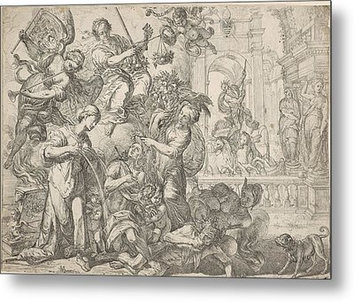 Allegory Of Peace, Remoldus Eynhoudts, Peter Paul Rubens Metal Print