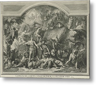 Allegory Of The Reconquest Of Franche-comt Metal Print