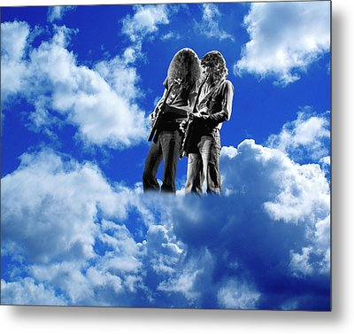 Metal Print featuring the photograph Allen And Steve In Clouds by Ben Upham