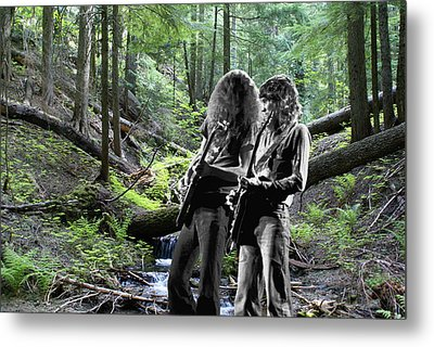 Metal Print featuring the photograph Allen And Steve On Mt. Spokane 2 by Ben Upham