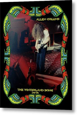 Metal Print featuring the photograph A C  Winterland Bong 6 by Ben Upham