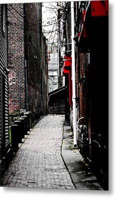 Alley Metal Print by Allan Millora