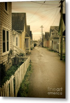 Alley And Abandoned Houses Metal Print by Jill Battaglia