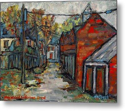 Alley Behind Sydenham Street Metal Print by David Dossett