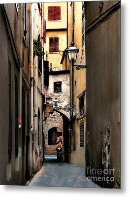 Metal Print featuring the photograph Alley In Florence 1 by Jennie Breeze