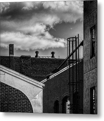 Alley Off The Park Metal Print