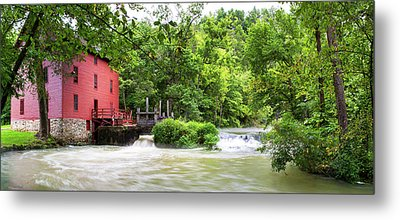 Alley Spring And Mill, Ozark National Metal Print