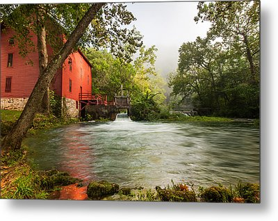 Alley Spring Grist Mill Waterfall And Lake Metal Print by Gregory Ballos