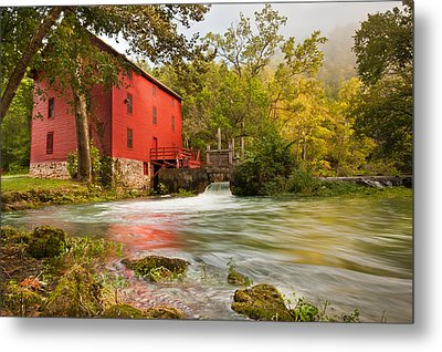 Metal Print featuring the photograph Alley Spring Mill - Eminence Missouri by Gregory Ballos