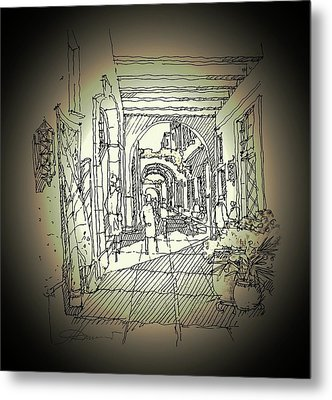Alley Storefront Metal Print