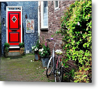 Metal Print featuring the photograph Alleyway In Dutch Village by Joe  Ng