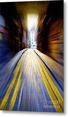 Alleyway With Motion Metal Print