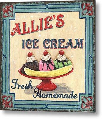 Allie's Ice Cream Metal Print by Debbie DeWitt