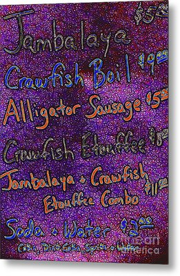 Alligator Sausage For Five Dollars 20130610 Metal Print by Wingsdomain Art and Photography
