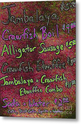 Alligator Sausage For Two Dollars 20130610p68 Metal Print by Wingsdomain Art and Photography