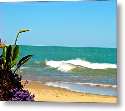Allow Yourself To Imagine At A Beach Metal Print
