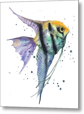 Alluring Angelfish Metal Print by Alison Fennell