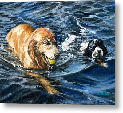 Ally And Smitty Metal Print by Eileen Patten Oliver
