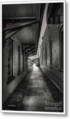Alley To The Trains Metal Print