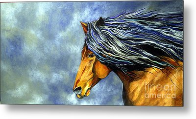 Metal Print featuring the painting Almanzors Glissando  by Alison Caltrider