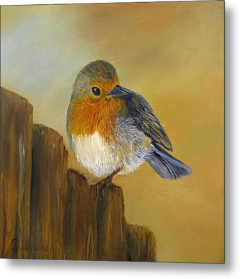 Metal Print featuring the painting Almost Spring by Roseann Gilmore