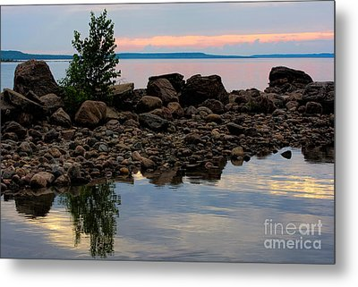 Almost Sunset At Awenda Beach Metal Print by Gerda Grice