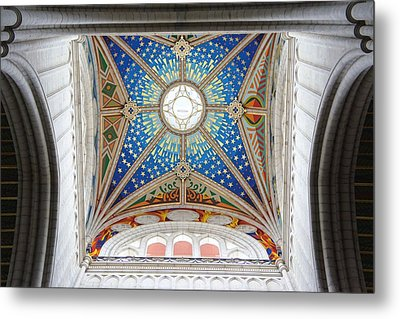 Almudena Cathedral Interior Metal Print by Jenny Hudson