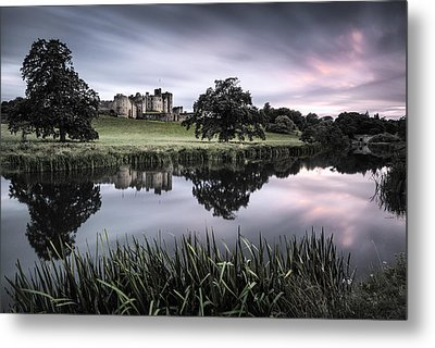 Alnwick Castle Sunset Metal Print by Dave Bowman