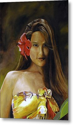 Metal Print featuring the painting Aloha by Rick Fitzsimons