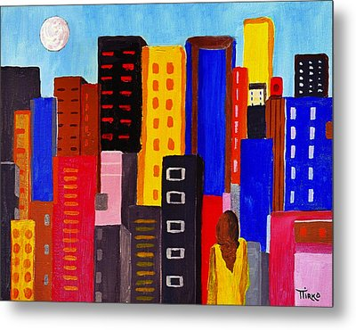 Alone Among All - City 05 Metal Print by Mirko Gallery