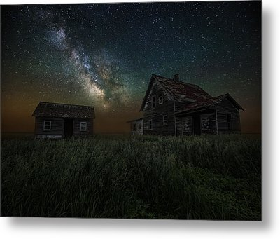 Alone In The Dark Metal Print by Aaron J Groen