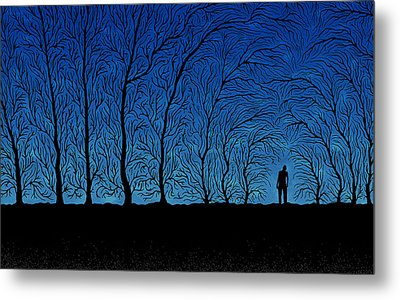 Alone In The Forrest Metal Print