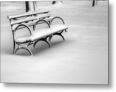 Alone In The Park Metal Print by JC Findley