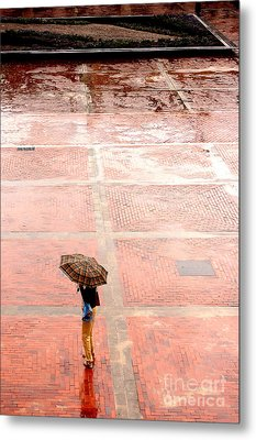 Alone In The Rain Metal Print by Michal Bednarek