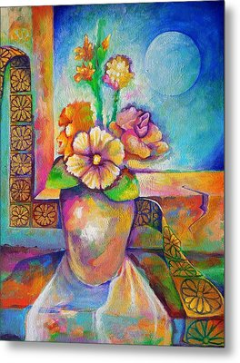Alone With The Last Remaining Flowers Metal Print