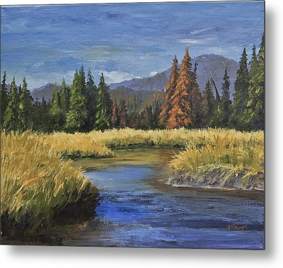 Along The Big Thompson Metal Print by Bev Finger