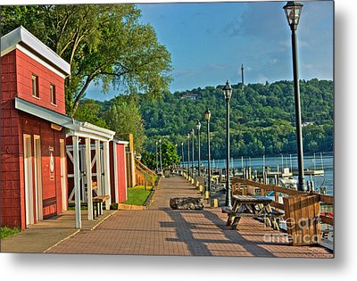 Metal Print featuring the photograph Along The Boardwalk by Jim Lepard