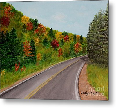Along The Cabot Trail Metal Print
