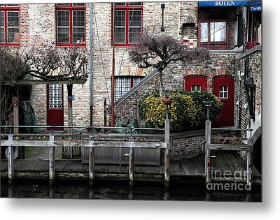 Along The Canal Metal Print by John Rizzuto