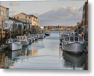 Metal Print featuring the photograph Along The Docks by Richard Bean