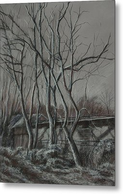 Along The Greenway 2 Metal Print by Janet Felts