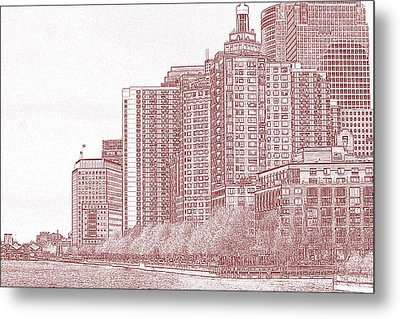 Along The Harbor New York Metal Print by Thomas Fouch