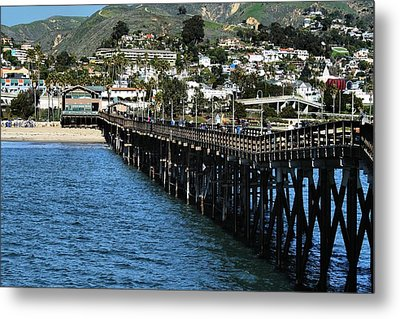 Metal Print featuring the photograph Along The Pier by Michael Gordon