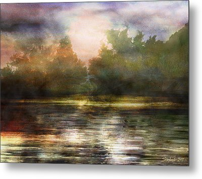 Along The Riverside Metal Print